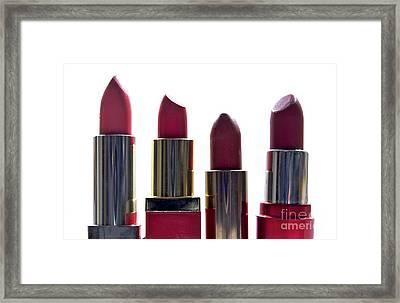 Lipsticks Framed Print by Bernard Jaubert
