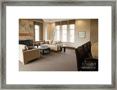 Living Room In An Upscale Home Framed Print by Shannon Fagan