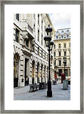 London Street Framed Print by Elena Elisseeva