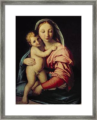 Madonna And Child Framed Print by Il Sassoferrato