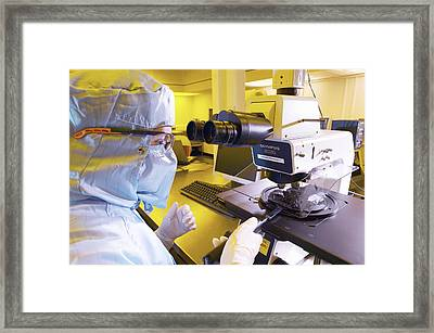 Mems Production, Quality Control Framed Print by Colin Cuthbert