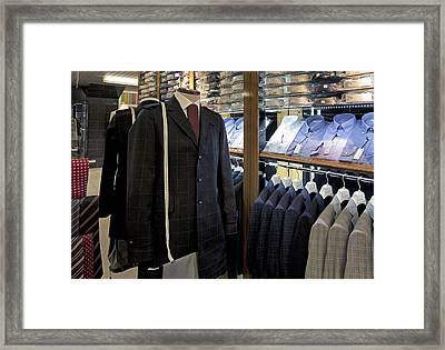 Menswear On Display At A Clothes Shop Framed Print by Jaak Nilson