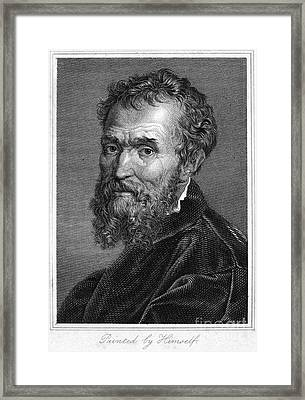 Michelangelo (1475-1564) Framed Print by Granger