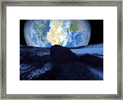 Near-earth Asteroid, Artwork Framed Print by Detlev Van Ravenswaay