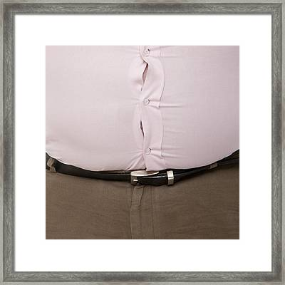 Overweight Man Framed Print by