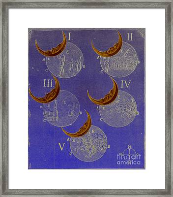 Phases Of An Eclipse Framed Print by Science Source