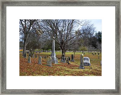 Pleasant Forest Cemetery Framed Print by Paul Mashburn