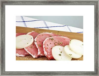 Pork Chops Raw Framed Print by Blink Images