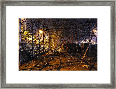 Preparation Of A Carnival Framed Print by Sumit Mehndiratta