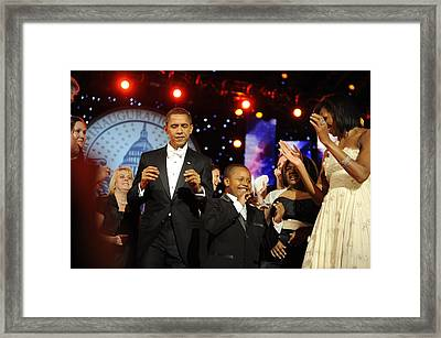 President And Michelle Obama Dance Framed Print by Everett