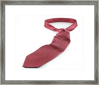 Red Tie Framed Print by Blink Images