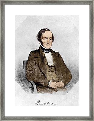 Richard Owen, English Paleontologist Framed Print by Science Source