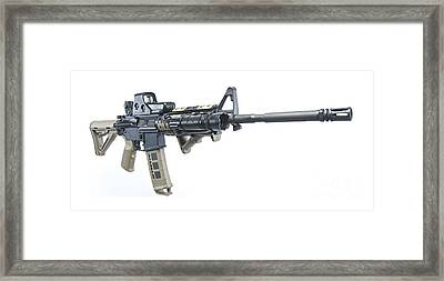Rock River Arms Ar-15 Rifle Equipped Framed Print by Terry Moore