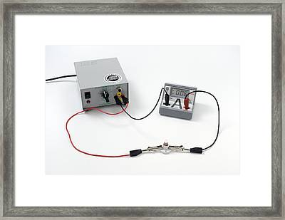 Simple Electrical Circuit Framed Print by Trevor Clifford Photography
