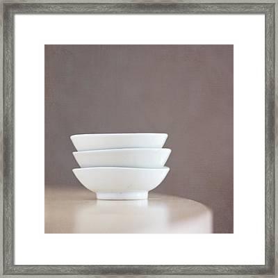 3 Stacked Bowls Framed Print by Pamela N. Martin