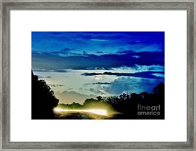 3 Streaks Framed Print by Don Youngclaus