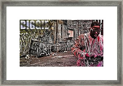 Street Phenomenon Biggie Framed Print by The DigArtisT