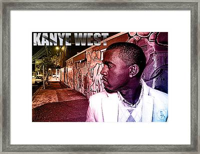 Street Phenomenon Kanye West Framed Print by The DigArtisT