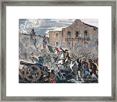 Texas: The Alamo, 1836 Framed Print by Granger