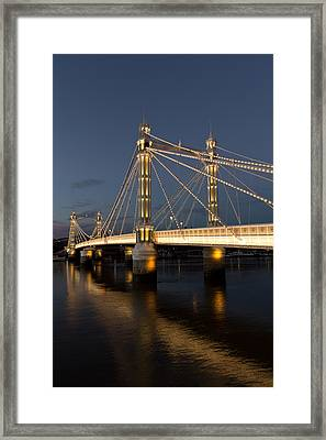 The Albert Bridge London Framed Print by David Pyatt