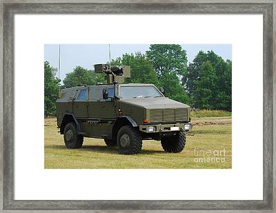 The Dingo 2 In Use By The Belgian Army Framed Print by Luc De Jaeger