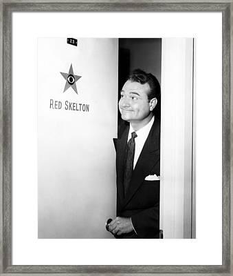 The Red Skelton Show, Red Skelton Framed Print by Everett