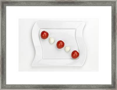 Tomato Mozzarella Framed Print by Joana Kruse