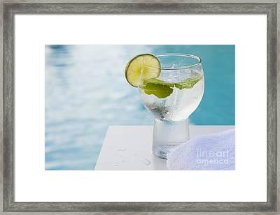 Water Framed Print by Juan  Silva