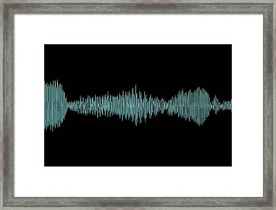 Whale Song Framed Print by