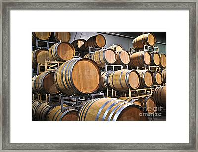 Wine Barrels Framed Print by Elena Elisseeva