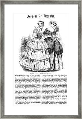Womens Fashion, 1851 Framed Print by Granger