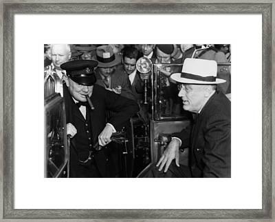 World War II. British Prime Minister Framed Print by Everett