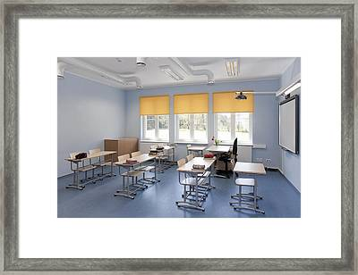 A Newly Built School Part Of The Basic Framed Print by Jaak Nilson