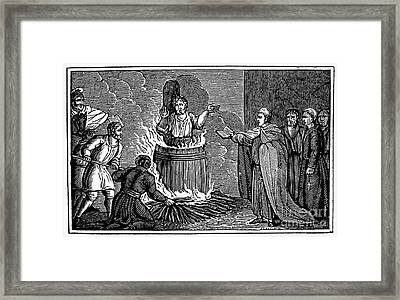 Foxe: Book Of Martyrs Framed Print by Granger