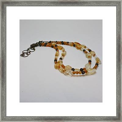 3514 Citrine Double Strand Necklace Framed Print by Teresa Mucha