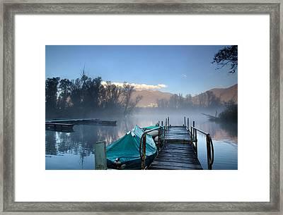 Alpine Lake Framed Print by Mats Silvan