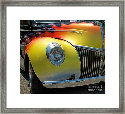 39 Ford Deluxe Hot Rod 3 Framed Print by Mark Dodd