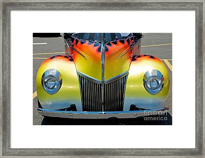 39 Ford Deluxe Hot Rod Grill Framed Print by Mark Dodd