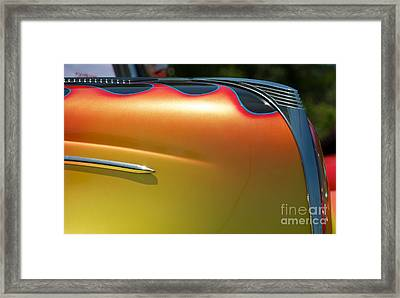 39 Ford Deluxe Hot Rod Ornament 2 Framed Print by Mark Dodd