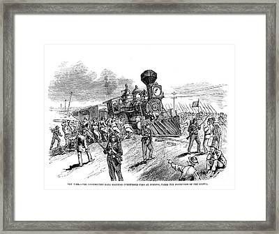 Great Railroad Strike, 1877 Framed Print by Granger
