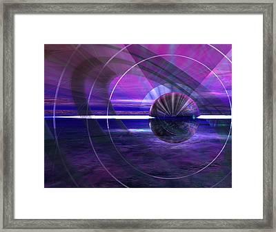 391 Blue Twist Framed Print by Scott Bishop
