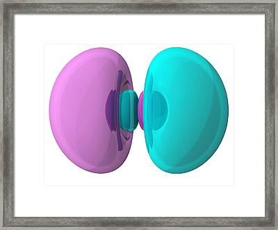 3p Electron Orbital Framed Print by Laguna Design