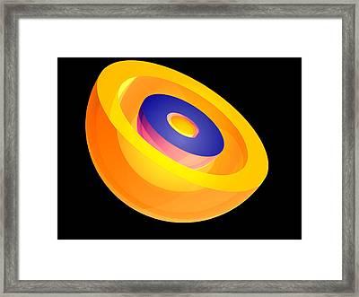 3s Electron Orbital Framed Print by Laguna Design