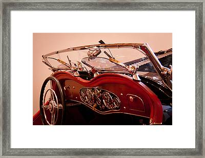 1933 Mercedes-benz 380 Ss Roadster Erdmann And Rossi Framed Print by David Patterson