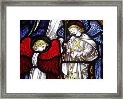 Angels Framed Print by Munir Alawi