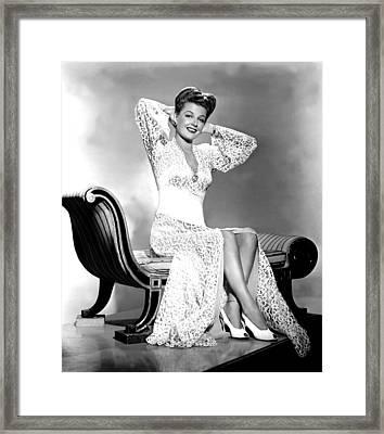 Ann Sheridan, Portrait Framed Print by Everett