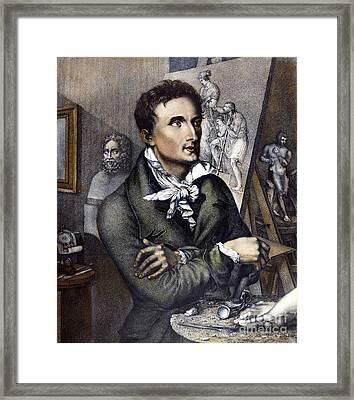 Antonio Canova (1757-1822) Framed Print by Granger