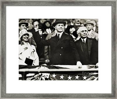 Calvin Coolidge (1872-1933) Framed Print by Granger