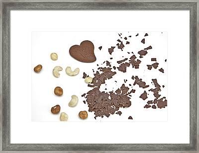 Chocolate Heart Framed Print by Joana Kruse