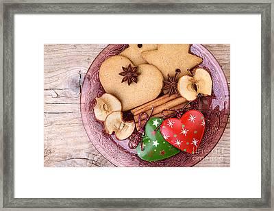 Christmas Gingerbread Framed Print by Nailia Schwarz
